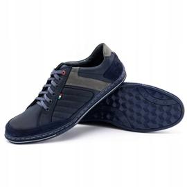 Olivier men's leather shoes 236GT navy blue 4