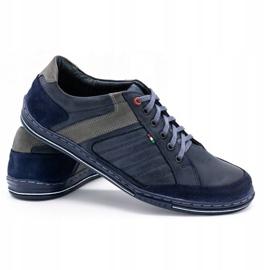 Olivier men's leather shoes 236GT navy blue 5