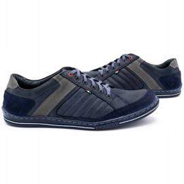 Olivier men's leather shoes 236GT navy blue 6