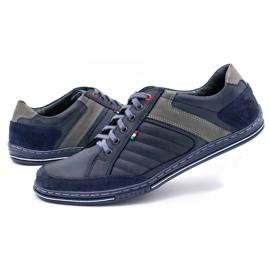 Olivier men's leather shoes 236GT navy blue 7