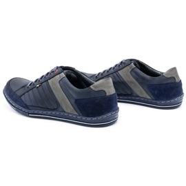 Olivier men's leather shoes 236GT navy blue 8