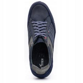 Olivier men's leather shoes 236GT navy blue 9