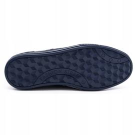 Olivier men's leather shoes 236GT navy blue 1