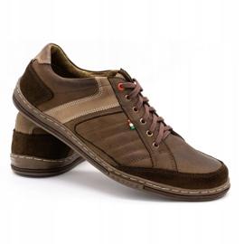 Olivier leather men's shoes 236GT brown 5