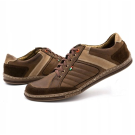 Olivier leather men's shoes 236GT brown 7