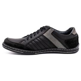 Olivier leather men's shoes 236GT black 2