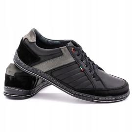 Olivier leather men's shoes 236GT black 5