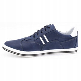 Polbut Men's casual shoes 1801 navy blue with white multicolored 1