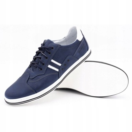 Polbut Men's casual shoes 1801 navy blue with white multicolored 3