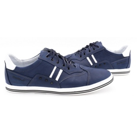 Polbut Men's casual shoes 1801 navy blue with white multicolored 5