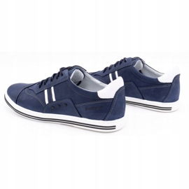Polbut Men's casual shoes 1801 navy blue with white multicolored 7