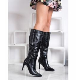 Comer Snake Print High Heel Boots black 1