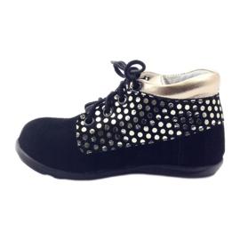 Girls' shoes Zarro 82/4 black gold golden 2