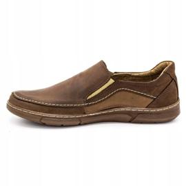 Olivier Men's slip-on shoes 283GT brown 3