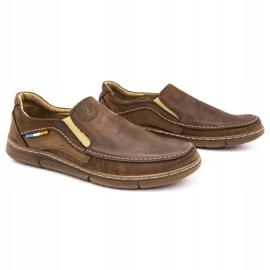 Olivier Men's slip-on shoes 283GT brown 4