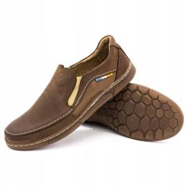 Olivier Men's slip-on shoes 283GT brown 5