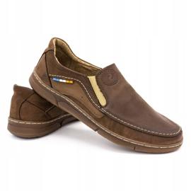 Olivier Men's slip-on shoes 283GT brown 6