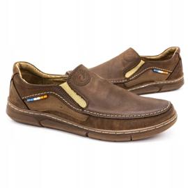 Olivier Men's slip-on shoes 283GT brown 7