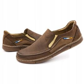 Olivier Men's slip-on shoes 283GT brown 8