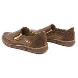 Olivier Men's slip-on shoes 283GT brown 9