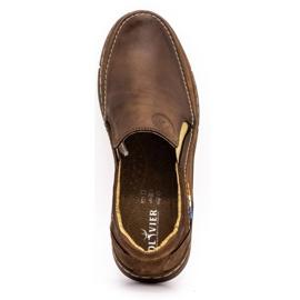 Olivier Men's slip-on shoes 283GT brown 1