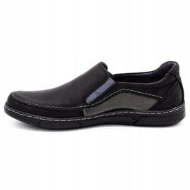 Olivier Men's slip-on shoes 283GT black 2