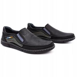 Olivier Men's slip-on shoes 283GT black 3
