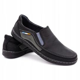 Olivier Men's slip-on shoes 283GT black 5