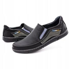 Olivier Men's slip-on shoes 283GT black 7