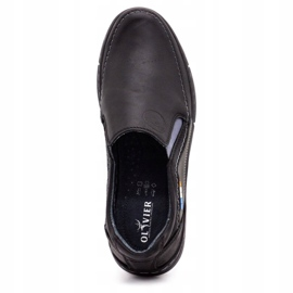 Olivier Men's slip-on shoes 283GT black 9