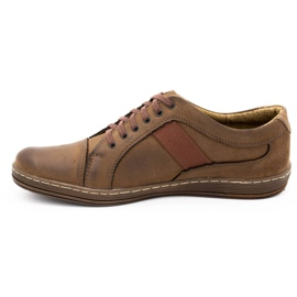 Olivier Men's leather casual shoes 238GT brown 4
