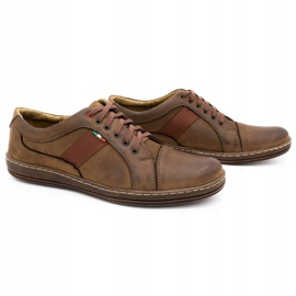 Olivier Men's leather casual shoes 238GT brown 5