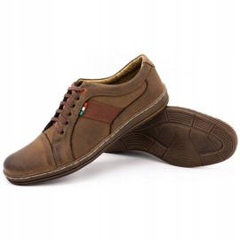 Olivier Men's leather casual shoes 238GT brown 6