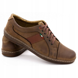 Olivier Men's leather casual shoes 238GT brown 7