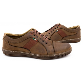 Olivier Men's leather casual shoes 238GT brown 8