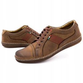 Olivier Men's leather casual shoes 238GT brown 9