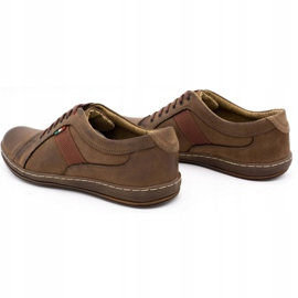 Olivier Men's leather casual shoes 238GT brown 10