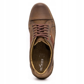 Olivier Men's leather casual shoes 238GT brown 11