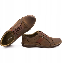 Olivier Men's leather casual shoes 238GT brown 2