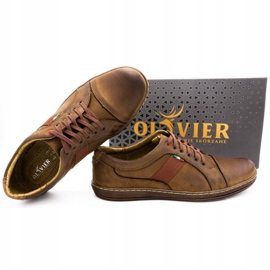 Olivier Men's leather casual shoes 238GT brown 3