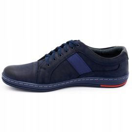 Olivier Men's leather casual shoes 238GT navy blue 3