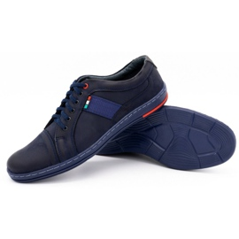 Olivier Men's leather casual shoes 238GT navy blue 5