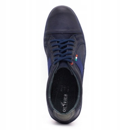 Olivier Men's leather casual shoes 238GT navy blue 10
