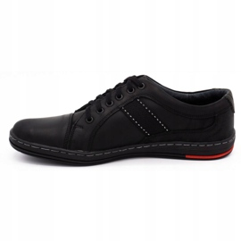 Olivier Men's leather casual shoes 238GT black 4