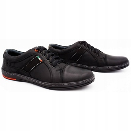 Olivier Men's leather casual shoes 238GT black 5