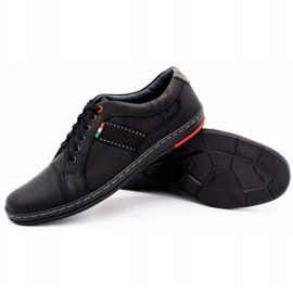 Olivier Men's leather casual shoes 238GT black 6
