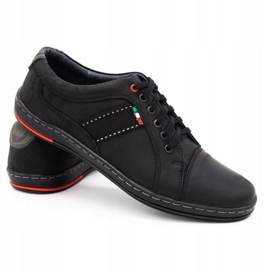 Olivier Men's leather casual shoes 238GT black 7
