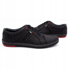 Olivier Men's leather casual shoes 238GT black 8