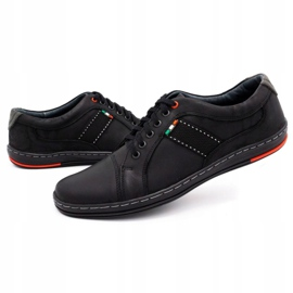 Olivier Men's leather casual shoes 238GT black 9