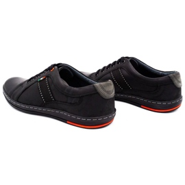 Olivier Men's leather casual shoes 238GT black 10